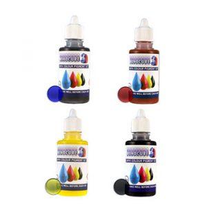 Monocure 3D CMYK Pigment Set